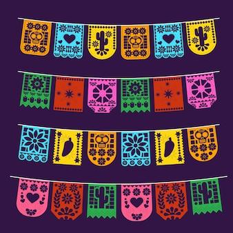 Conjunto de estamenha mexicana