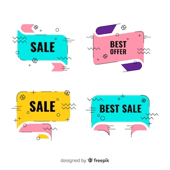 Conjunto de estilo banner de venda memphis
