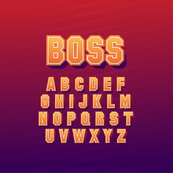 Conjunto de estilo de fontes abstratas elegantes