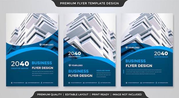 Conjunto de estilo de modelo de folheto a4 moderno