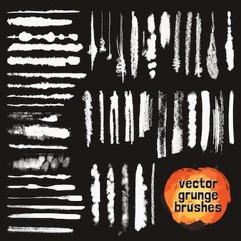 Conjunto de estilos de pincéis de quadro-negro Vetor grátis