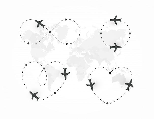 Conjunto de estrada de avião.