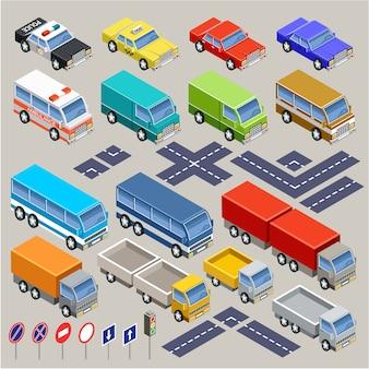 Conjunto de estrada isométrica.