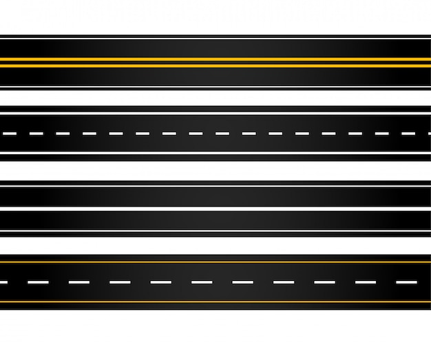 Conjunto de estradas de estilo diferente
