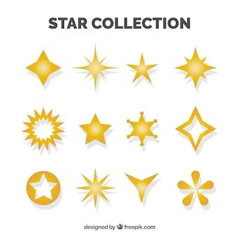 Conjunto de estrelas decorativas