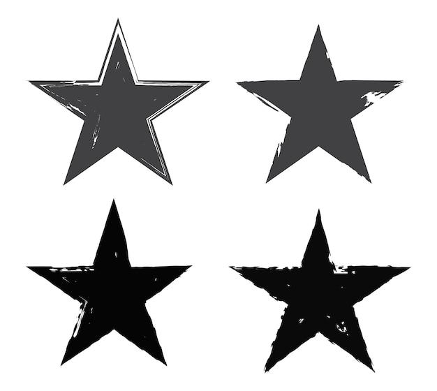 Conjunto de estrelas do grunge
