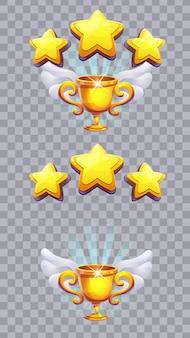 Conjunto de estrelas em um fundo transparente