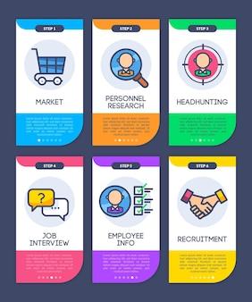 Conjunto de etapas no processo de contratação