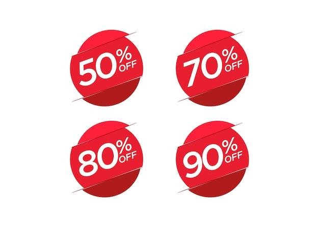 Conjunto de etiqueta de preço de oferta de desconto