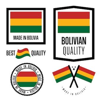 Conjunto de etiqueta de qualidade da bolívia