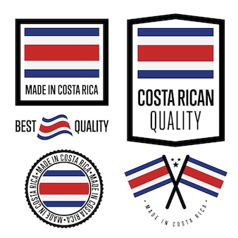 Conjunto de etiqueta de qualidade da costa rica