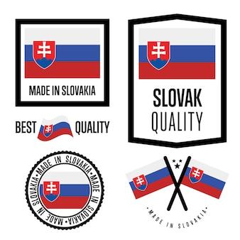Conjunto de etiqueta de qualidade da eslováquia