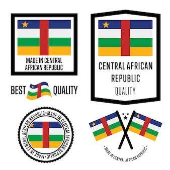 Conjunto de etiqueta de qualidade da república centro-africana