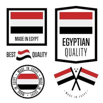 Conjunto de etiqueta de qualidade do egito