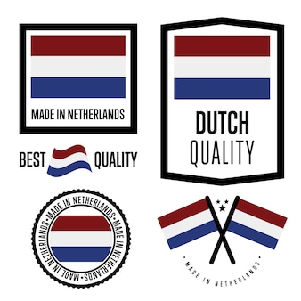 Conjunto de etiqueta de qualidade dos países baixos