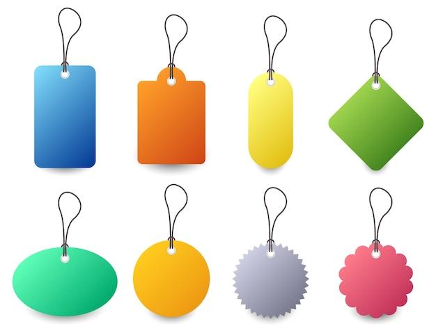 Conjunto de etiquetas coloridas