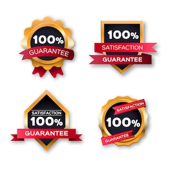 Conjunto de etiquetas de garantia 100%
