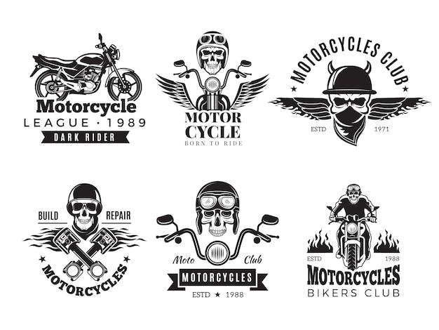 Conjunto de etiquetas de motociclista