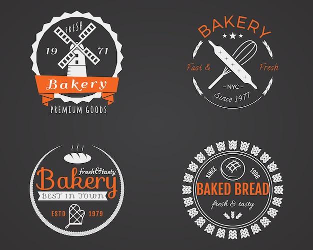 Conjunto de etiquetas de padaria, design de emblemas