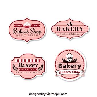 Conjunto de etiquetas de padaria