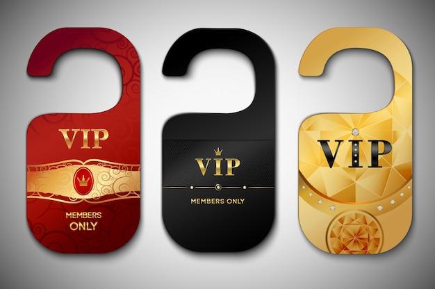 Conjunto de etiquetas de porta vip