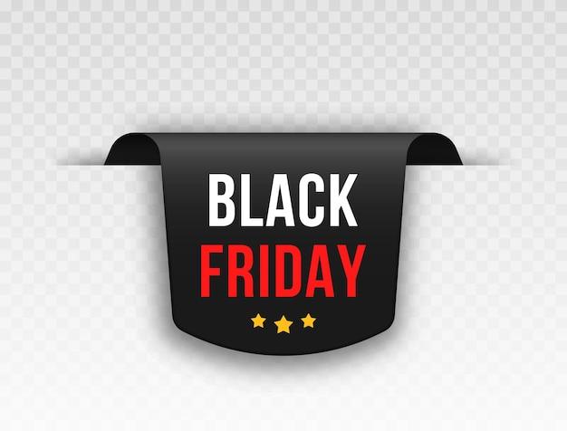 Conjunto de etiquetas de preço pretas design de etiqueta para preto sexta-feira etiqueta de vendas realistas