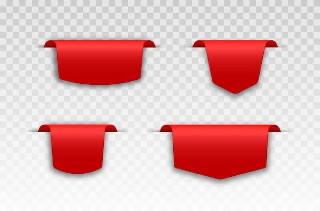 Conjunto de etiquetas de preço vermelhas design de etiqueta para preto sexta-feira etiqueta de vendas realistas