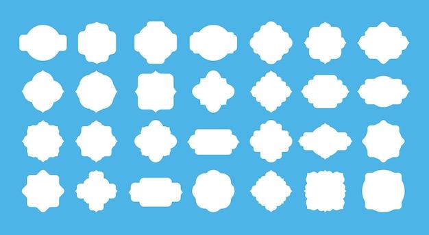 Conjunto de etiquetas de quadro em branco