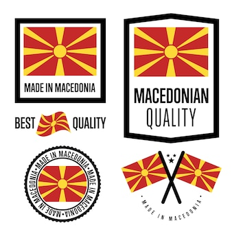 Conjunto de etiquetas de qualidade da macedônia