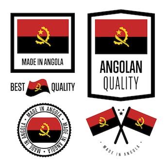 Conjunto de etiquetas de qualidade de angola