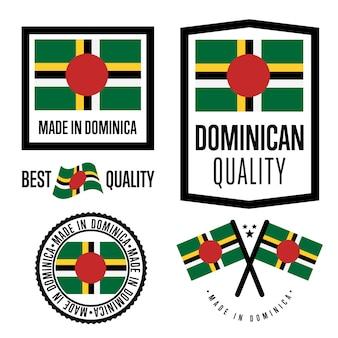 Conjunto de etiquetas de qualidade dominica