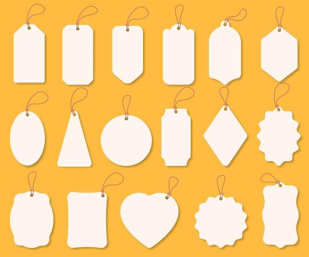 Conjunto de etiquetas de venda, etiquetas suspensas, modelo de etiqueta de papel, oferta especial.