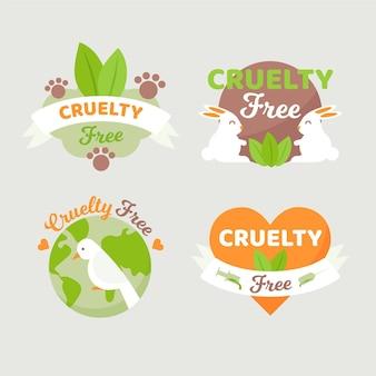 Conjunto de etiquetas desenhado à mão livre cruel
