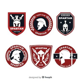 Conjunto de etiquetas espartanas