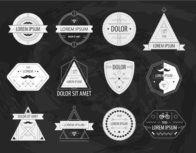 Conjunto de etiquetas modernas ofhipster