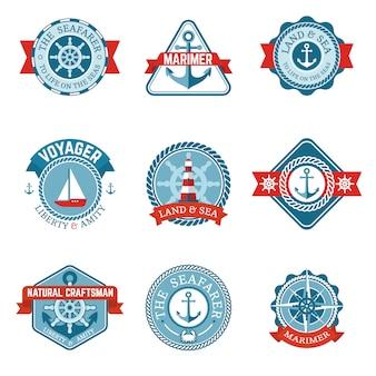 Conjunto de etiquetas náuticas