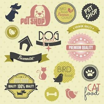 Conjunto de etiquetas para animais de estimação
