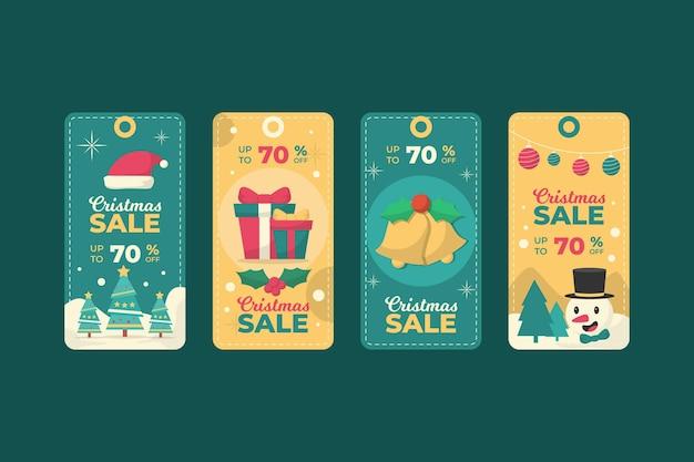 Conjunto de etiquetas vintage natal