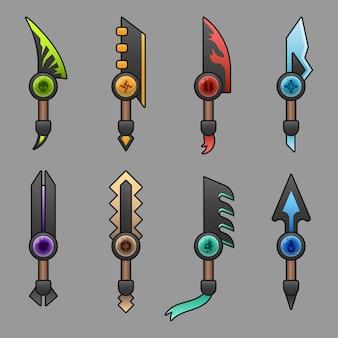 Conjunto de facas para o jogo