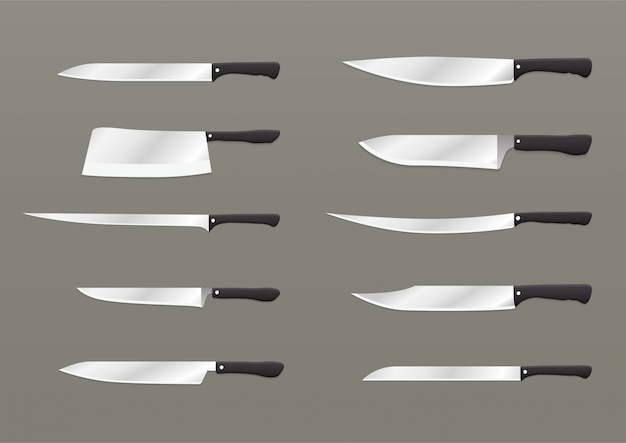 Conjunto de facas realistas