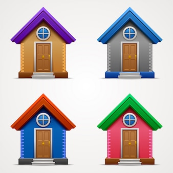 Conjunto de fachada residencial
