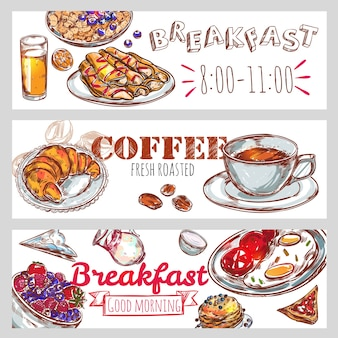Conjunto de faixa de café da manhã