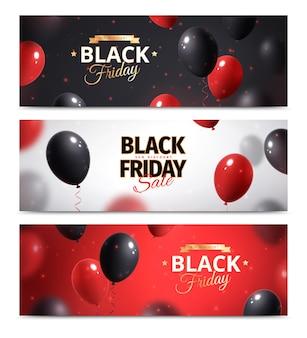 Conjunto de faixa preta de venda sexta-feira