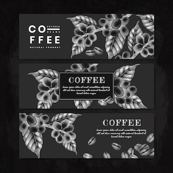 Conjunto de faixa preta do dia do café internacional