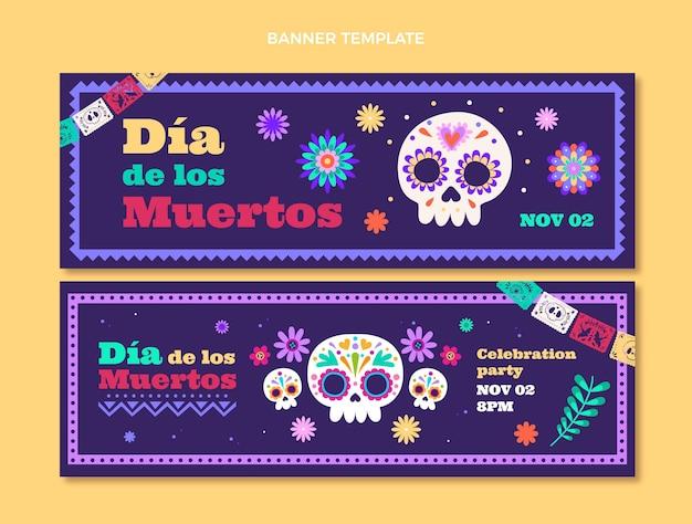Conjunto de faixas horizontais de diâmetro plano de muertos