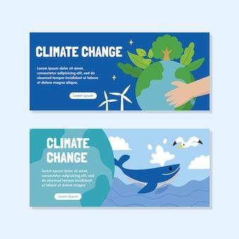 Conjunto de faixas planas de mudança climática