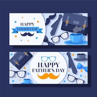 Conjunto de faixas planas do dia do pai