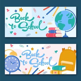 Conjunto de faixas retas para a escola