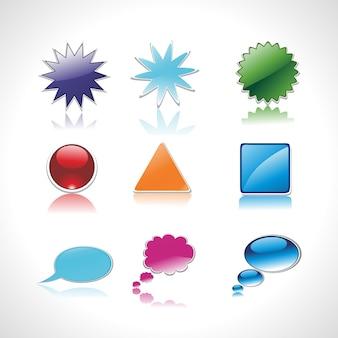 Conjunto de fala e pensamento vetor colorido