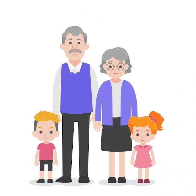 Conjunto de família de caracteres de pessoas